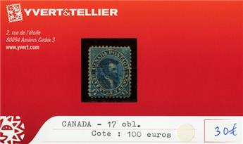 CANADA - n°17 obl.