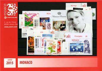 n° 2952/F3008 - Timbre Monaco Année complète (2015)