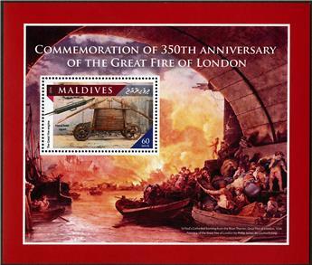 n° 995 - Timbre MALDIVES Blocs et feuillets