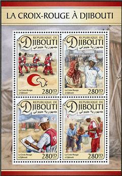 n° 1316 - Timbre DJIBOUTI Poste