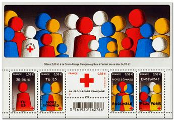 n° F4819 - Timbre France Poste (Croix-Rouge 2013)