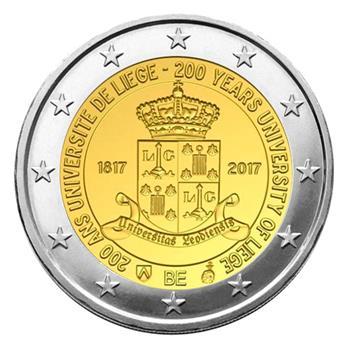 2 EURO COMMEMORATIVE 2017 : BELGIQUE - Université de Liège (Version flamande)
