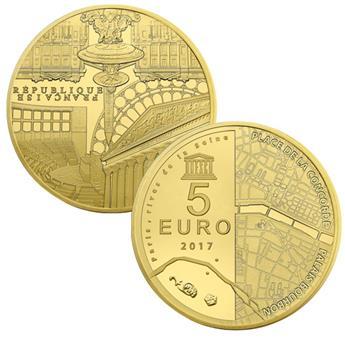 5 EUROS OR - FRANCE - UNESCO BE 2017