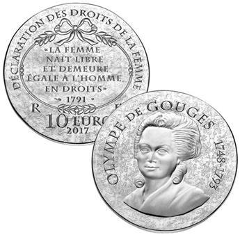 10 EUROS ARGENT - FRANCE - OLYMPE DE GOUGES