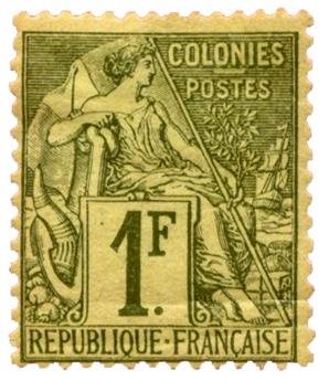 n°59* - Timbre COLONIES FRANCAISES Poste