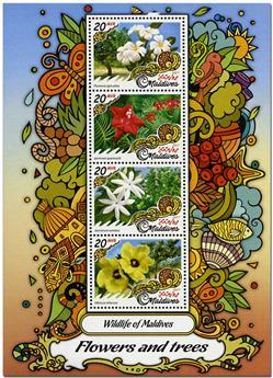 n° 5634 - Timbre MALDIVES Poste