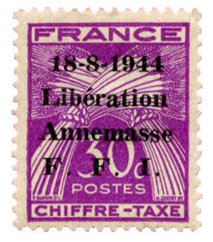 n°13T* (MAYER) - Timbre France Libération (ANNEMASSE)