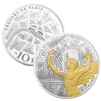 10 EUROS - ARGENT - FRANCE - ANGE DE LA BASTILLE BE 2017