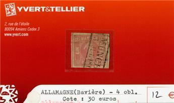 ALLEMAGNE BAVIERE - n°4 obl.
