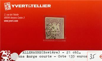 ALLEMAGNE BAVIERE - n°21 obl.