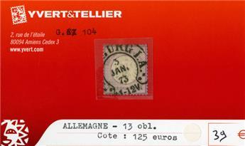 ALLEMAGNE EMPIRE - n°13 obl.