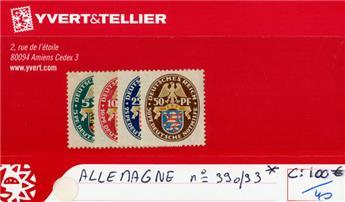 ALLEMAGNE REP.DE WEIMAR - n°390/393*