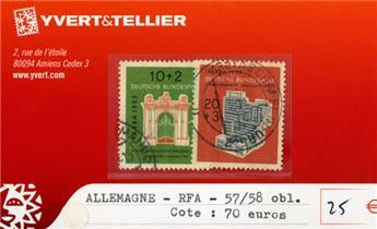 ALLEMAGNE FEDERALE - n°57/58 obl.
