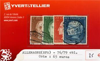 ALLEMAGNE FEDERALE - n°76/79 obl.