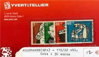 ALLEMAGNE FEDERALE - n°119/122 obl.