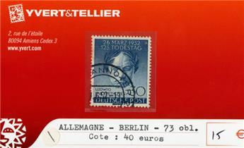 ALLEMAGNE BERLIN - n°73 obl.
