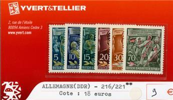 ALLEMAGNE ORIENTALE - n°216/221**