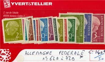ALLEMAGNE FEDERALE - n°62A/72B*.