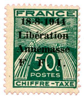 n°14T* (MAYER) - Timbre FRANCE Libération (ANNEMASSE)