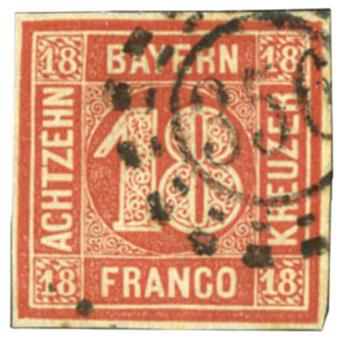 Allemagne (Bavière) : n°14a obl. TB