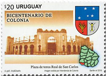 n° 2831 - Timbre URUGUAY Poste