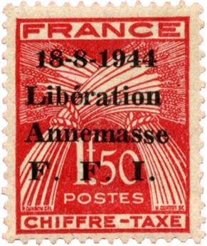 n°16T* (MAYER) - Timbre FRANCE Libération (ANNEMASSE)