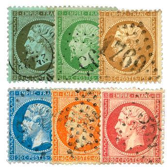 n.° 19/24 obl. - Napoleón III (NON LAURÉ)