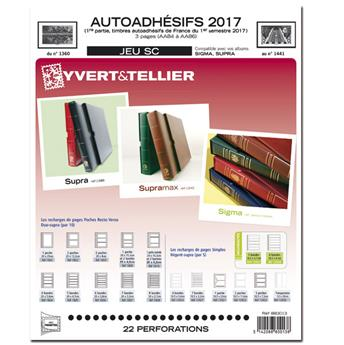 FRANCE AUTOADHESIFS SC : 2017 - 1ER SEMESTRE (Jeu avec pochettes)