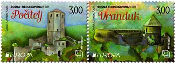 n° 414/415 - Timbre HERCEG-BOSNA Poste (EUROPA)