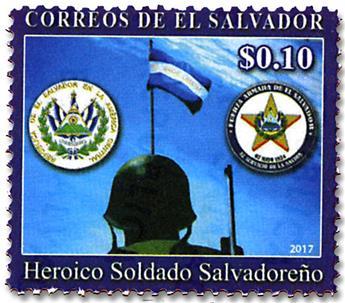 n° 1884 - Timbre SALVADOR Poste