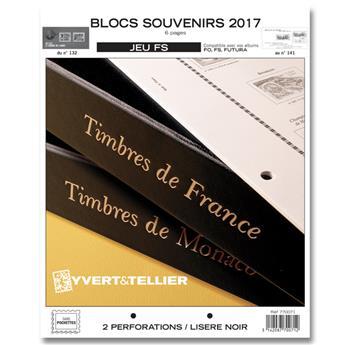 BLOCS SOUVENIRS FS : 2017 (jeux sans pochettes)
