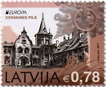 n° 986/987 - Timbre LETTONIE Poste (EUROPA )