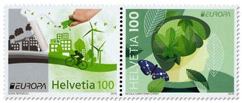 n° 2379/2380 - Timbre SUISSE Poste (EUROPA )