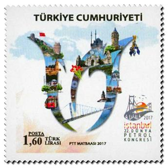 n° 3837 - Timbre TURQUIE Poste