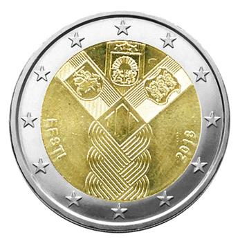 2 EURO COMMEMORATIVE 2018 : ESTONIE (100 ANS DES ETATS BALTES)