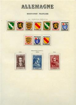 Collection : Allemagne occ. Fr., Bade, Etat Rhéno-palatin, Wurttemberg.