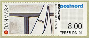 n°133 - Timbre DANEMARK Timbres de distributeurs