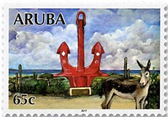 n°982/989 - Timbre ARUBA Poste