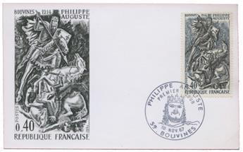 n°1538a obl. sur carte - Timbre FRANCE Poste