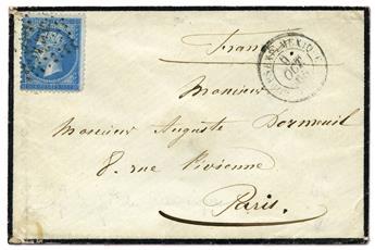 n°22 obl. B/TB sur lettre - Timbre FRANCE Poste