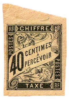 n°10* - Timbre COLONIES FRANCAISES Taxe