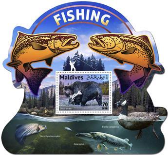 n° 1090 - Timbre MALDIVES Blocs et feuillets