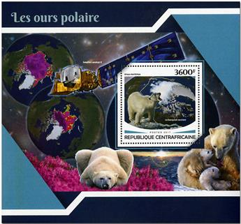 n° 1184 - Timbre CENTRAFRICAINE Blocs et feuillets