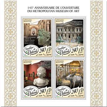 n° 1668/1671 - Timbre DJIBOUTI Poste