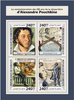n° 1708/1711 - Timbre DJIBOUTI Poste