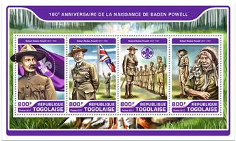 n° 5602/5605 - Timbre TOGO  Poste