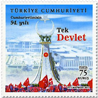 n° 3853/3856 - Timbre TURQUIE Poste