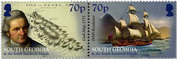 n° 684/689 - Timbre GEORGIE DU SUD Poste