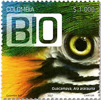 n° 1844 - Timbre COLOMBIE Poste