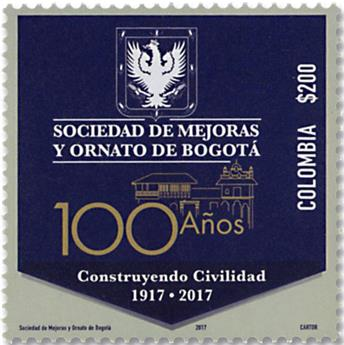 n° 1855 - Timbre COLOMBIE Poste